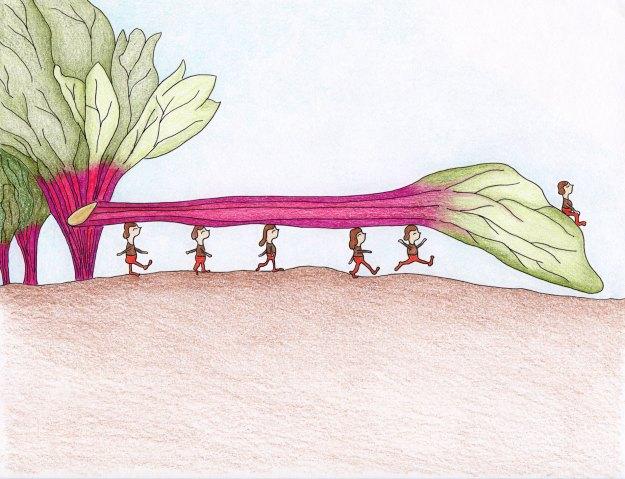 garden brownie elves illustration