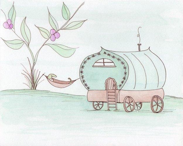 a wee nap watercolor