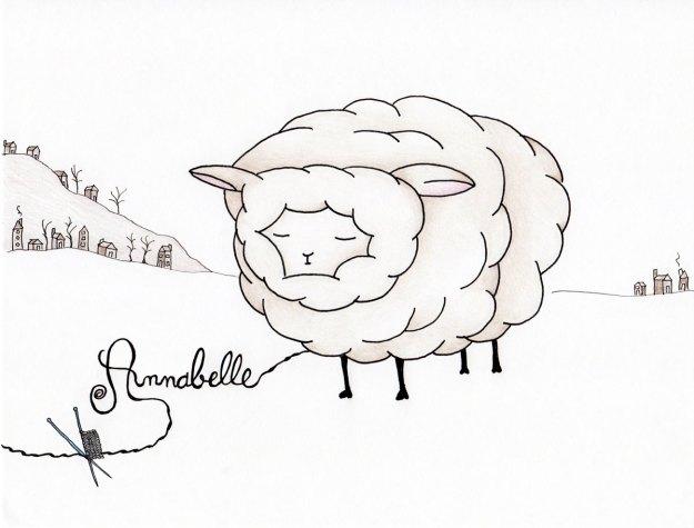 sheep Annabelle fluffy fleece